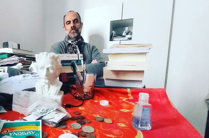 Pietro Mereu nella casa milanese